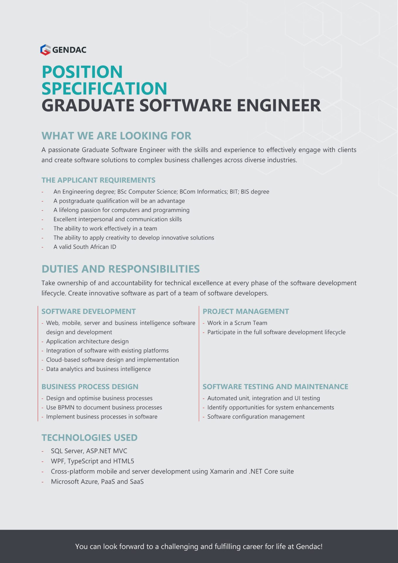 Graduate Software Engineer Job