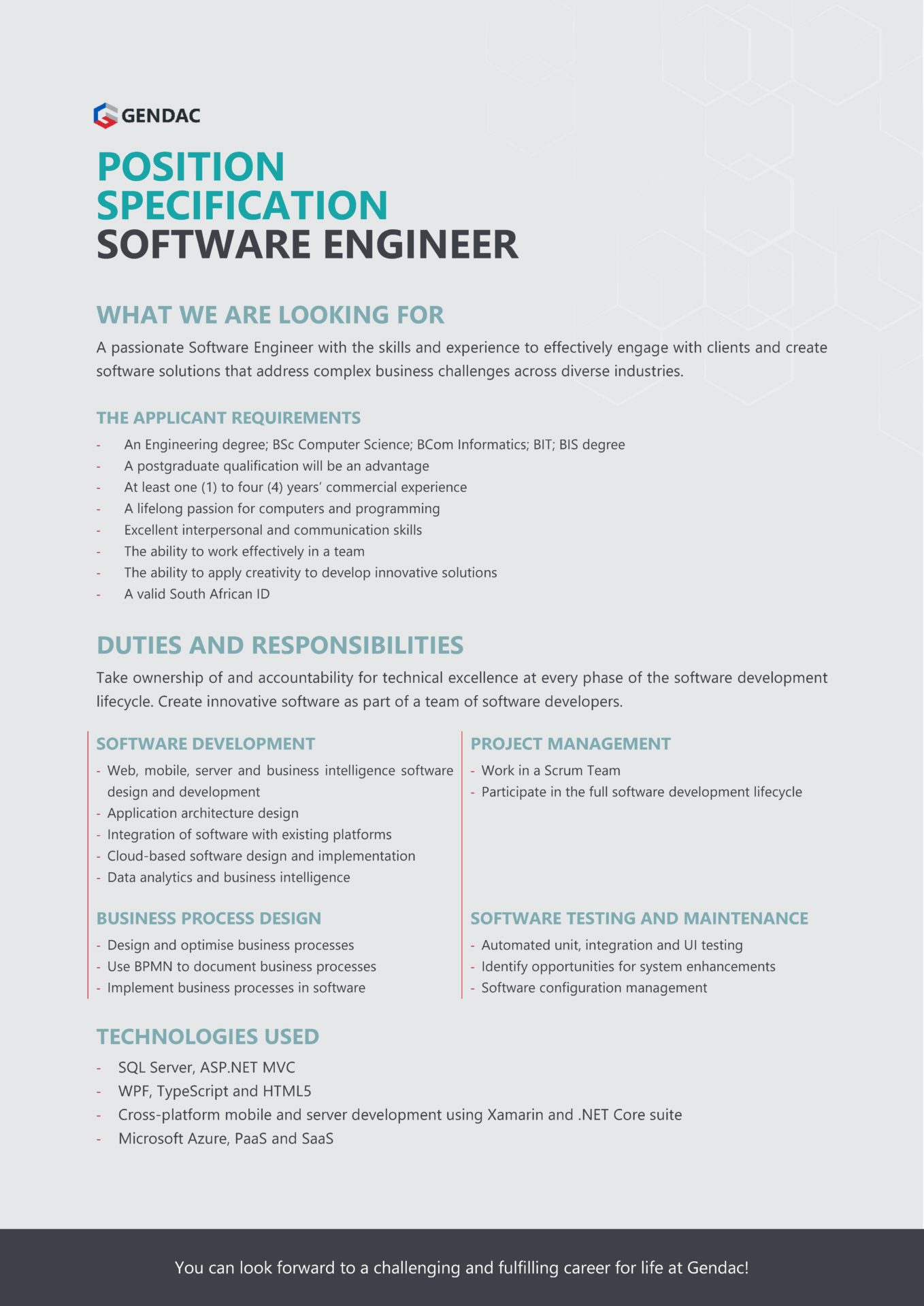 Software Engineer Job