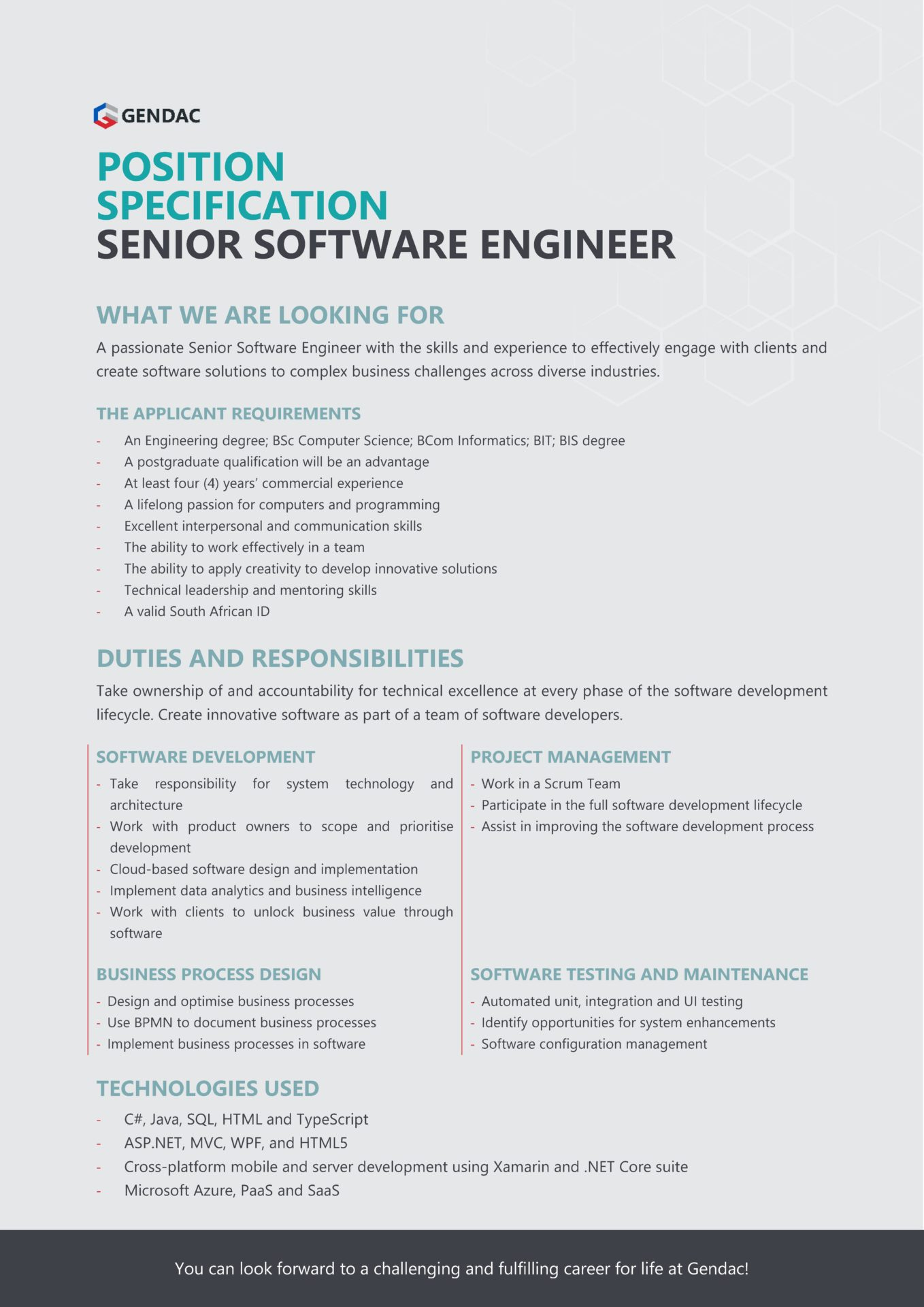 Senior Software Engineer Job
