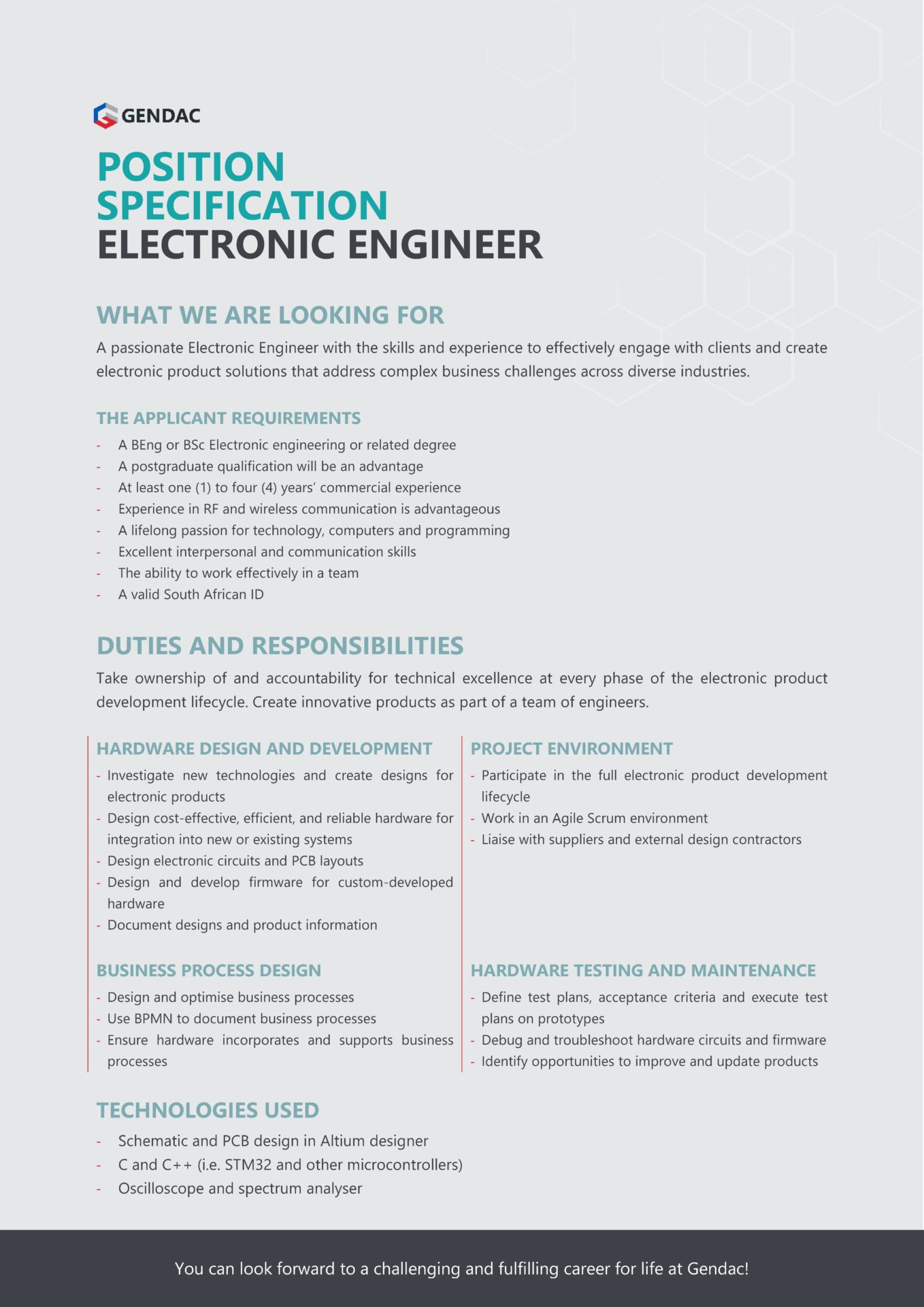 Electronic Engineer Job